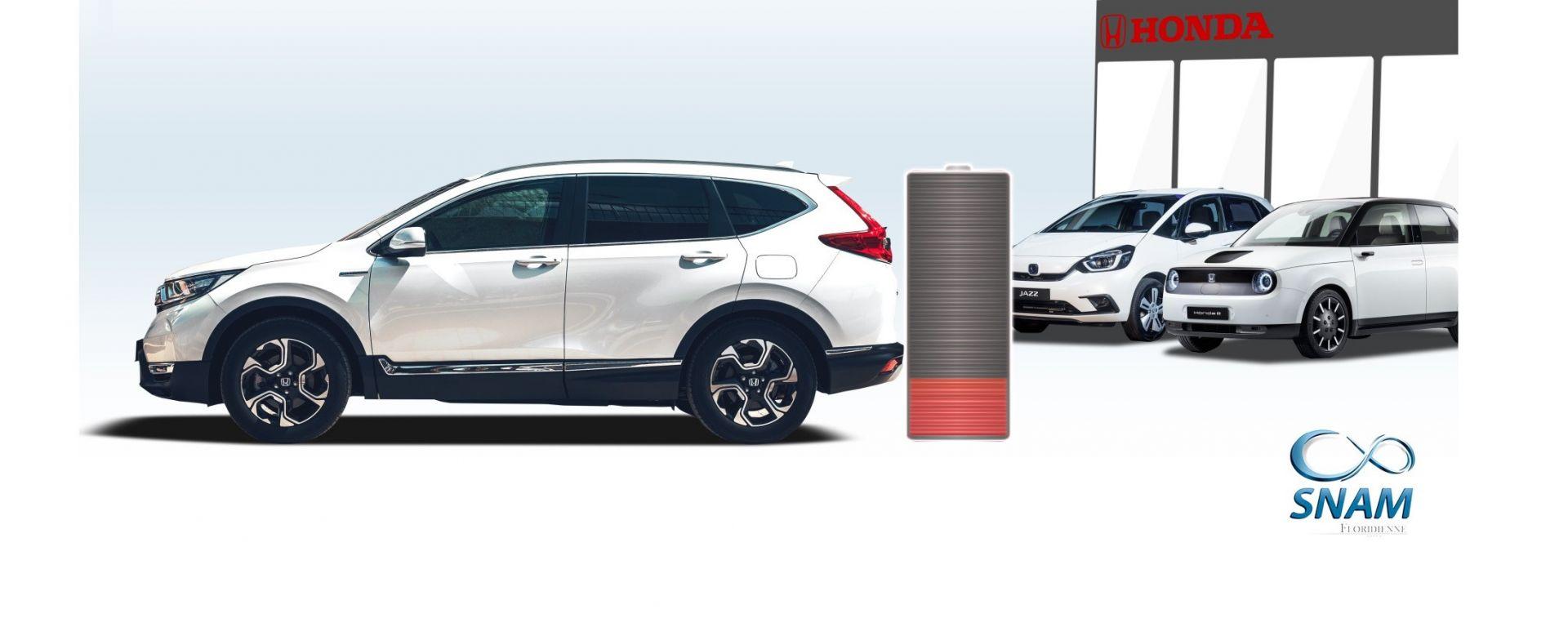 Honda e SNAM insieme per dare una seconda vita alle batterie di auto ibride ed elettriche