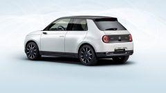 Honda e: visuale di 3/4 posteriore