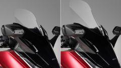 Honda forza 125: il parabrezza elettrico si comanda da blocchetto sinistro