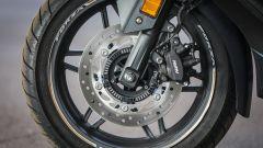 Honda Forza 300: dettaglio del freno anteriore