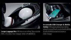 Honda Forza 350: il vano sottosella può contenere due caschi