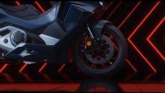 Honda Forza 750: forcella a steli rovesciati e doppio disco con pinze ad attacco radiale