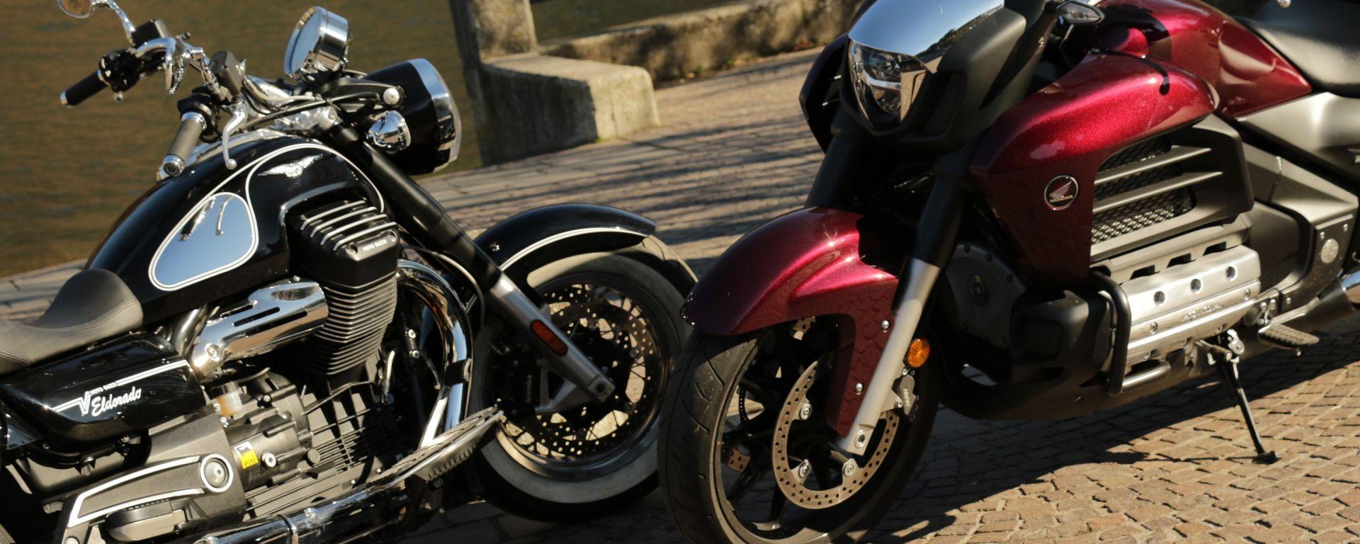 Honda Goldwing F6C vs Moto Guzzi Eldorado