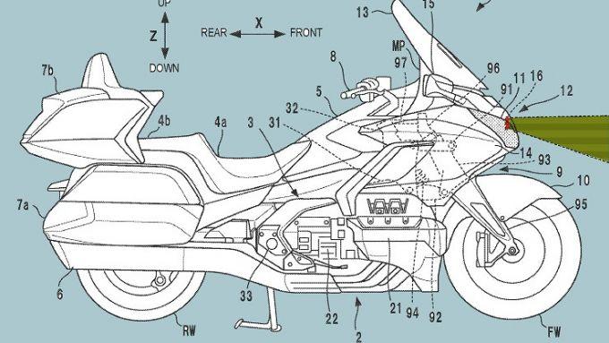 Honda Goldwing: il brevetto del rada cruise control