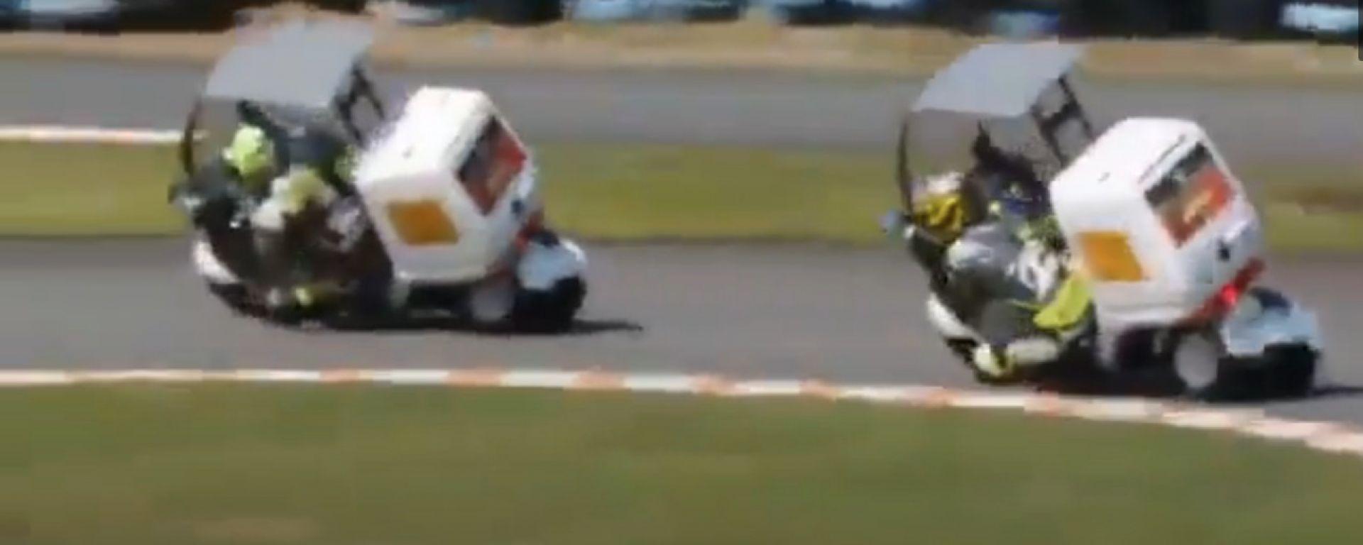 Honda Gyro: 3 ruote in pista per una sfida all'ultima staccata