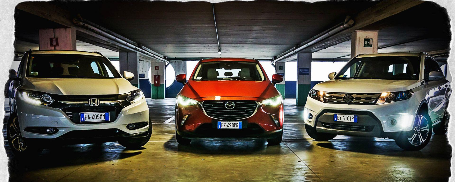 Honda HR-V vs Mazda CX-3 vs Suzuki Vitara
