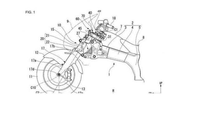 Honda: il brevetto del sistema anti-caduta