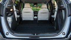 Honda Jazz 1.5 i-MMD Hybrid 2021, interni: il bagagliaio con gli schienali dei sedili abbassati