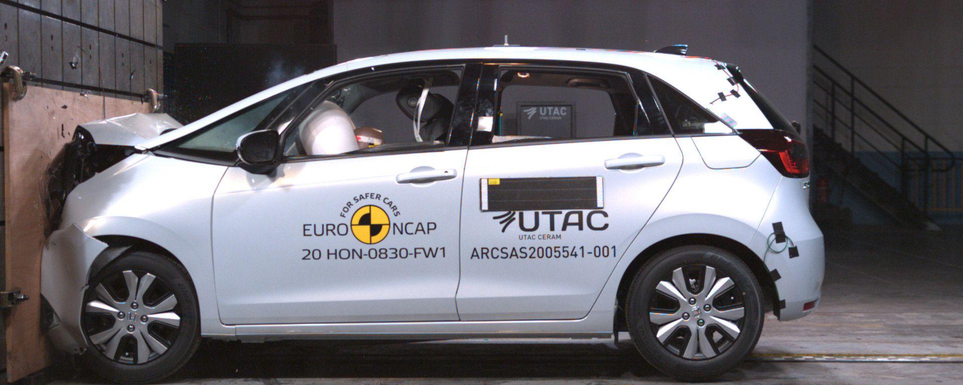 Honda Jazz e:HEV 2021 nei crash test Euro NCAP