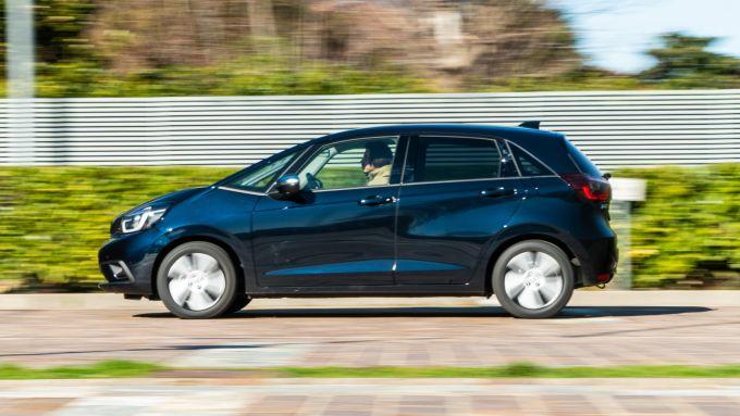 Honda Jazz Hybrid 2021: ecco com'è lateralmente