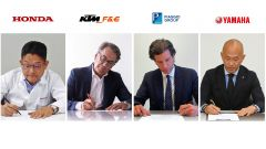 Honda, KTM, Piaggio e Yamaha: siglato l'accordo per le batterie