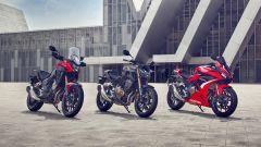 Honda CB500F, CB500X, CBR500R 2022: motore, novità, colori. Video