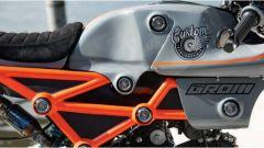 Honda MSX 125 Grom Sakuma: il telaio verniciato in arancio