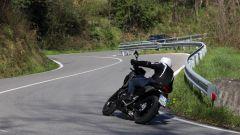 Honda NC750X 2021: le pedane non sono eccessivamente basse e non toccano facilmente