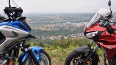 Honda NC750X DCT Travel Edition vs Yamaha Tracer 700, muso contro muso
