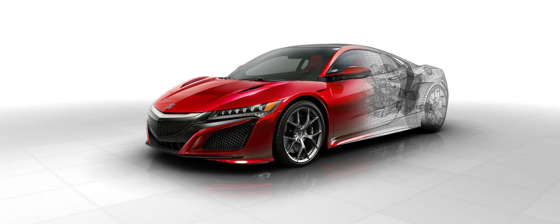 Honda NSX ai raggi X