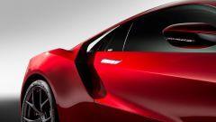 Honda NSX: il montante posteriore è staccato dalla carrozzeria per far passare l'aria