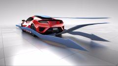 Honda NSX Total Airflow Management: i flussi d'aria dietro la vettura