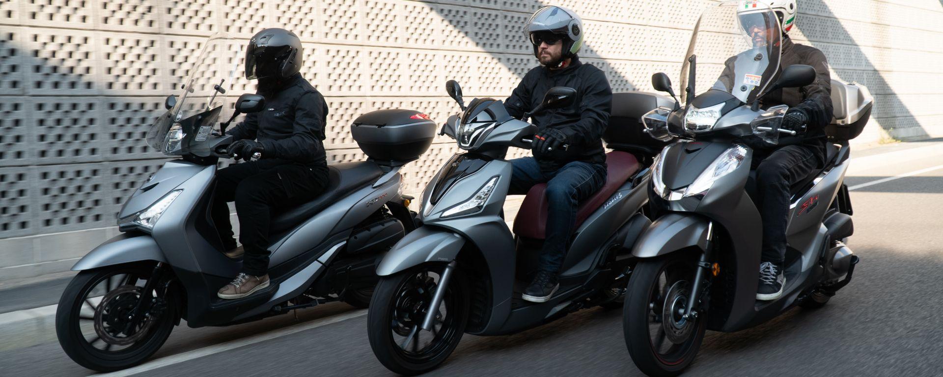 Honda, Kymco, Sym: la comparativa scooter 300 a ruote alte