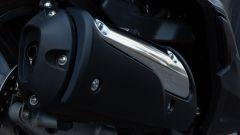 Honda SH 300i Sport 2019, lo scarico