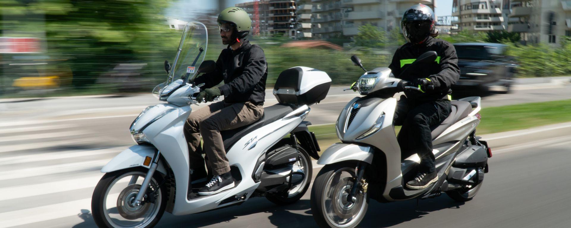 Honda vs Piaggio: chi è il Re della città tra SH350i e Beverly 300?