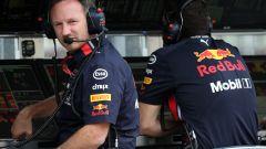 Horner al muretto Red Bull in Ungheria
