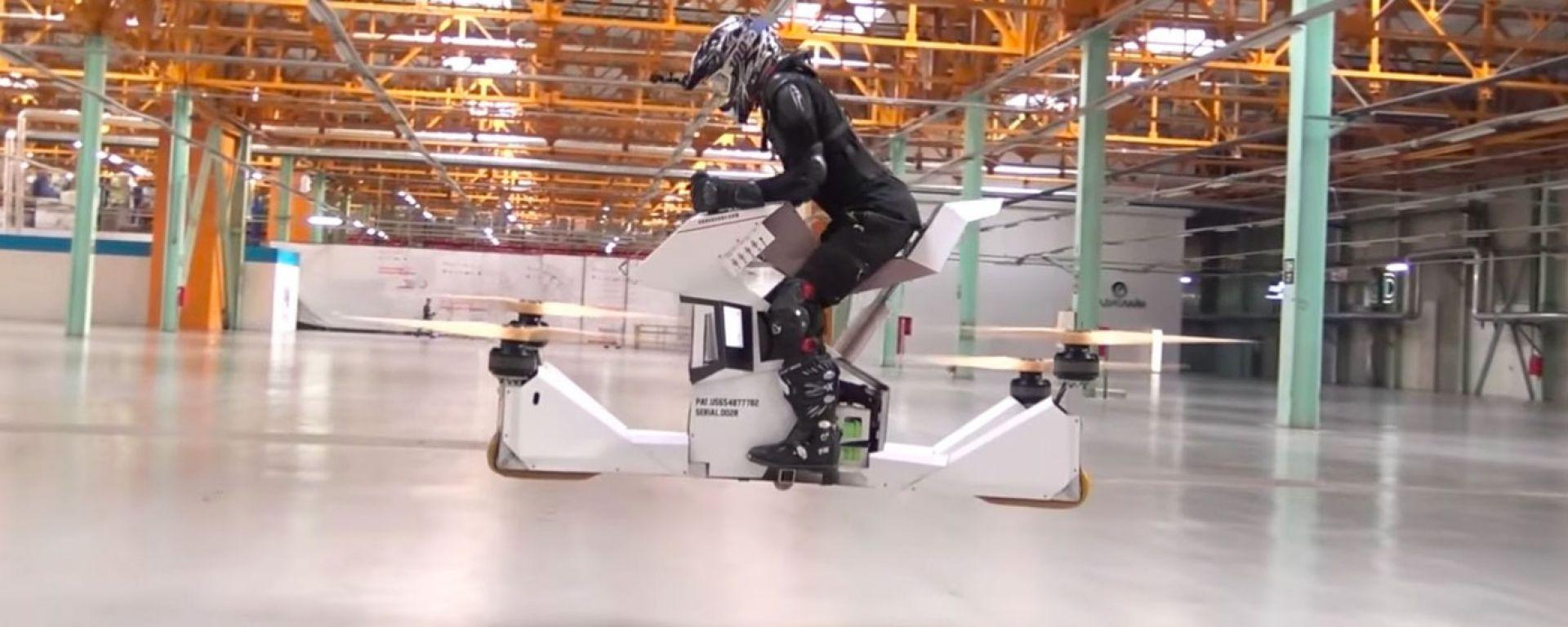 Hoverbike Scorpion-3: ecco la moto volante elettrica [VIDEO]