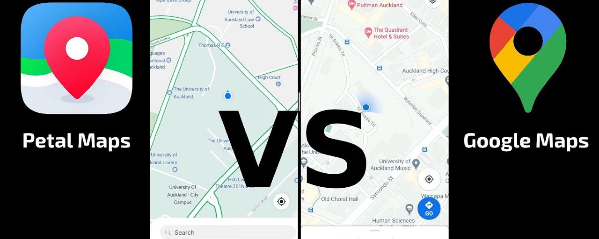 Huawei Petal Maps sfida Google Maps