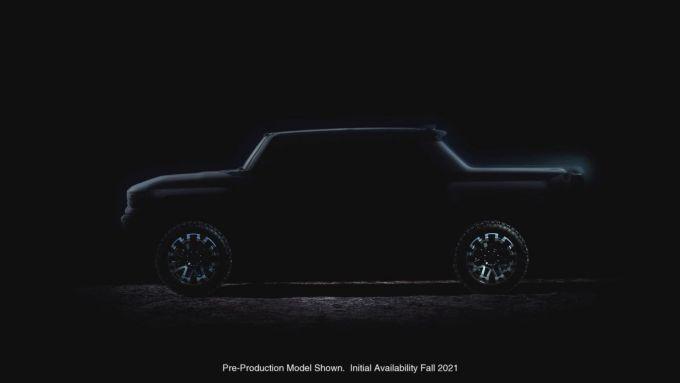 Hummer EV: la silhouette del SUV elettrico