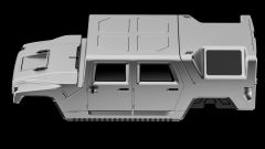 Hummer H1 2025: il rendering che prende forma