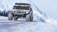 Hummer H1 2025: il rendering della versione militare sulla neve