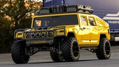Hummer H1 2025: il rendering di 3/4 frontale