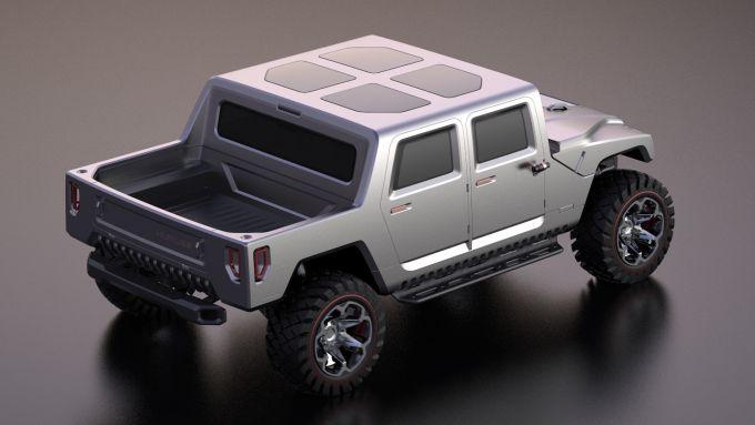 Hummer H1 2025: il rendering di Sadikhov