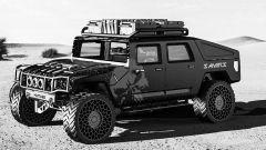 Hummer H1 2025: la versione da deserto (rendering)