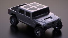 Hummer H1 2025: la versione pickup