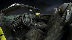 Huracán Spyder: un pulsante sul volante per scegliere tra modalità di guida strada, sport e corsa