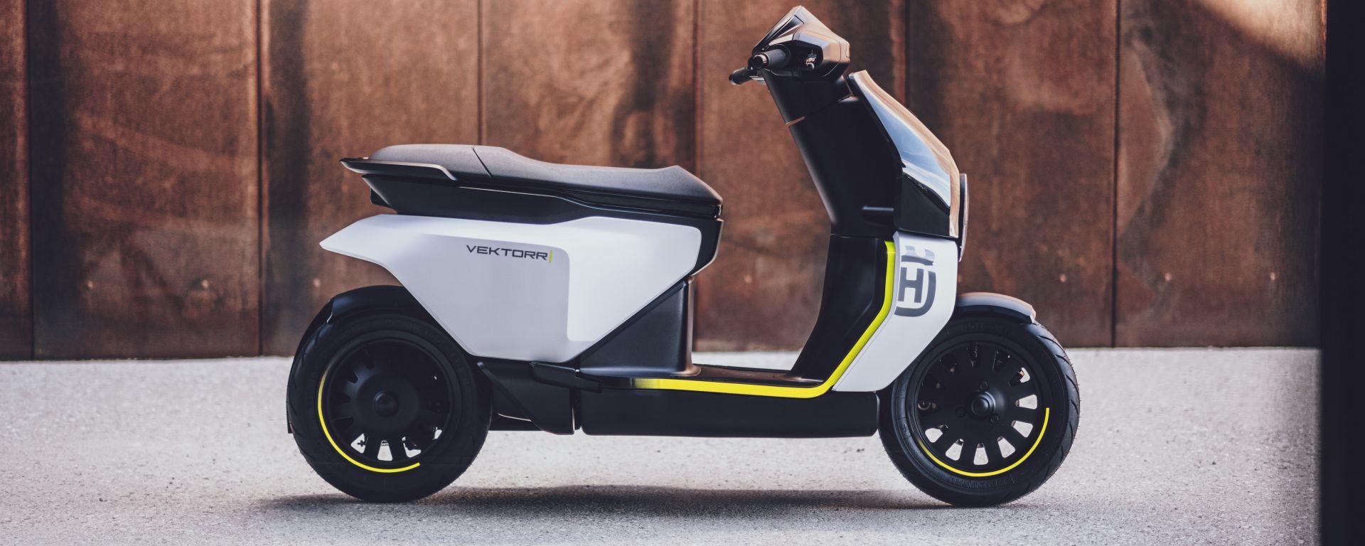 Husqvarna Vektorr: il concept del primo scooter elettrico del marchio