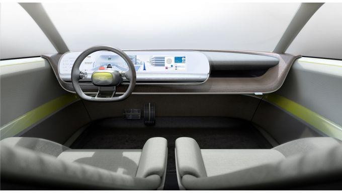 Hyundai 45 EV Concept 2019, gli interni: si noti la plancia sospesa