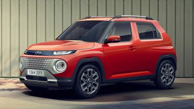 Hyundai Casper 2021: vista 3/4 anteriore