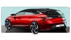 Hyundai i20 2020: bozzetto del posteriore