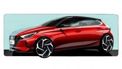 Hyundai i20 2020: bozzetto dell'anteriore