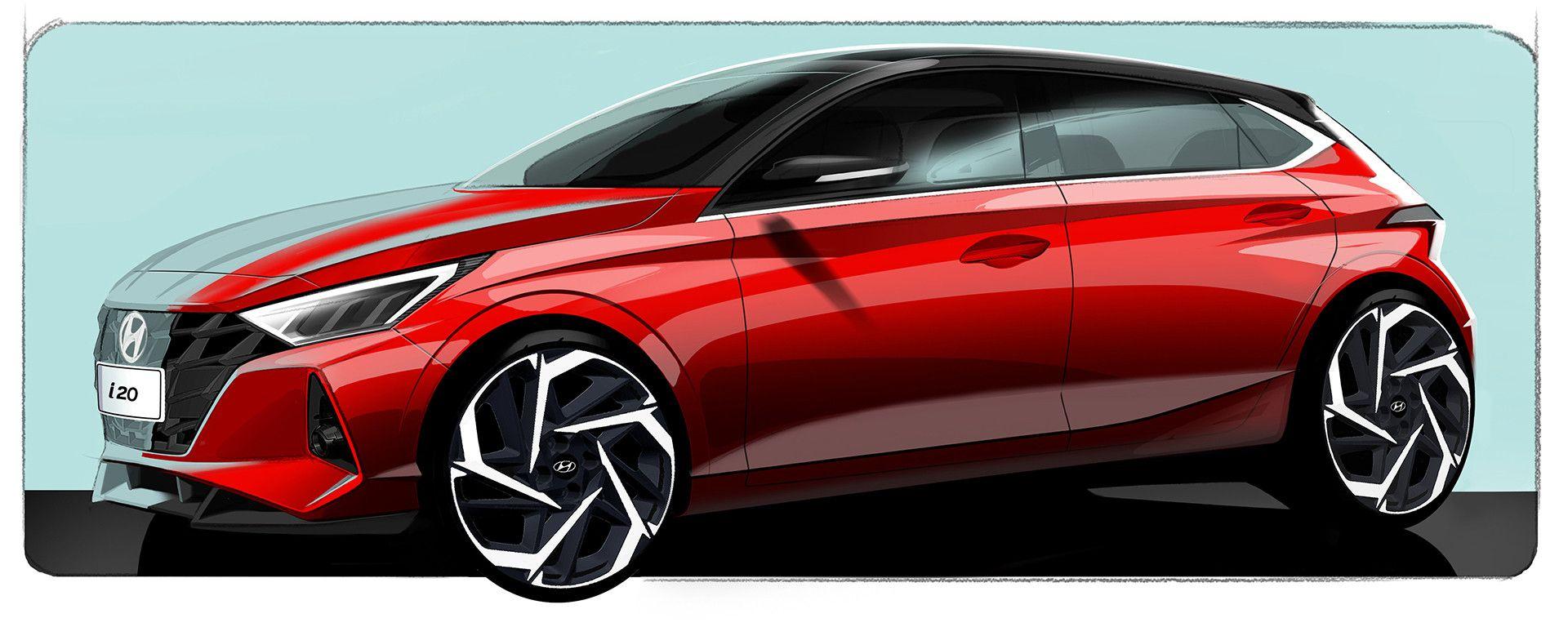Hyundai i20 2020: i primi bozzetti