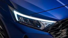 Hyundai i20 2020: particolare dei nuovi fari anteriori