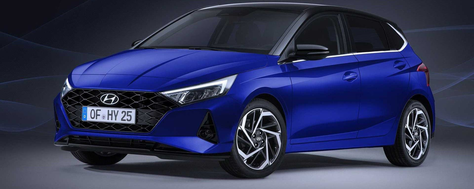 Hyundai i20 2020: visuale di 3/4 anteriore