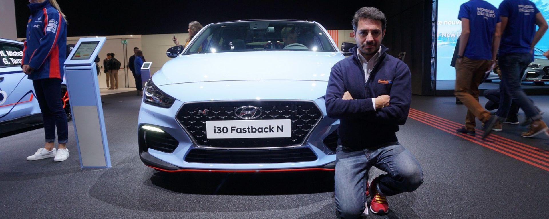 Hyundai i30 N Fastback: in video dal Salone di Parigi 2018