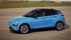 Hyundai Kona 2021 Electric: visuale di 3/4 anteriore