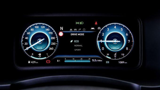 Hyundai Kona 48V 2021: quadro strumenti digitale