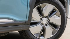 Hyundai Kona Electric: i cerchi in lega leggera da 17