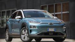 Hyundai Kona Electric: una vista di 3/4 anteriore