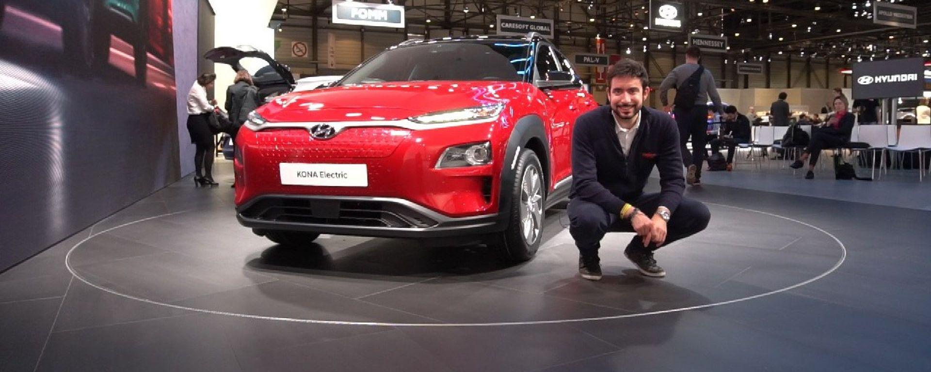 Hyundai Kona Electric: in video dal Salone di Ginevra 2018